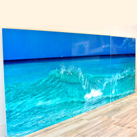 Sea Blue Triptych (metal)